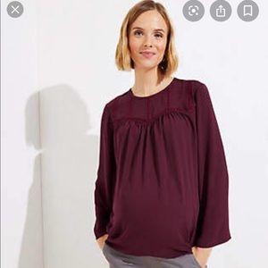 EUC Loft XS Maternity blouse
